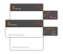 Corporate Identity Templates music shop