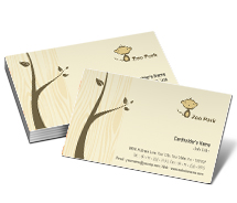 Business Card Templates zoo park