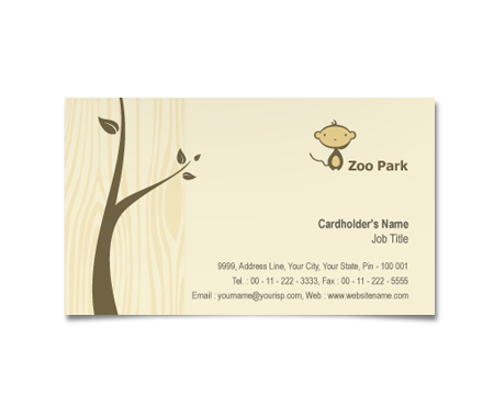 Complete Business Card  View with Layout For Zoo Park