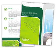 Brochure Templates Social & Cultural Green Energy
