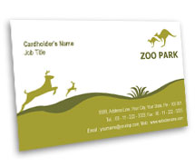 Business Card Templates Zoo Park House