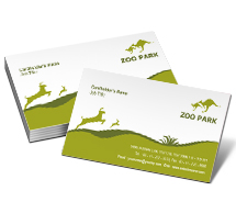 Business Card Templates Animal & Pets Zoo Park House