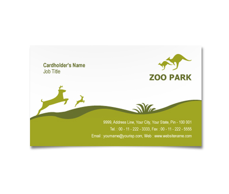 Complete Business Card  View with Layout For Zoo Park House