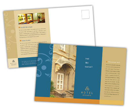 Complete PostCard s View with Layout For Heritage Hotel