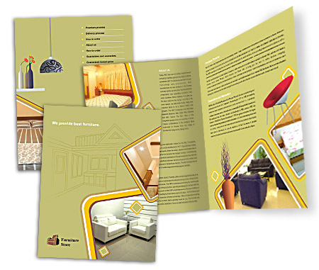 Complete Brochure  View with Layout For The Furniture Stores