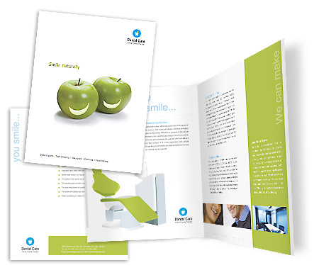 Complete Brochure  View with Layout For Dental Care