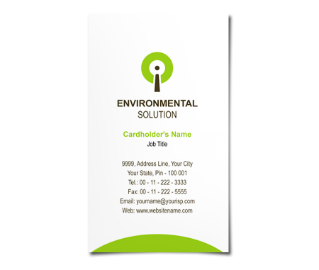 Complete Business Card  View with Layout For Environmental Solution
