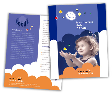 Complete Brochure  View with Layout For Children Welfare Service
