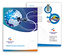 Brochure Templates Communications Global Communication Services