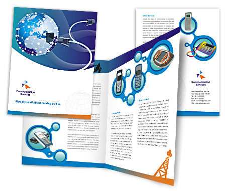 Complete Brochure  View with Layout For Global Communication Services