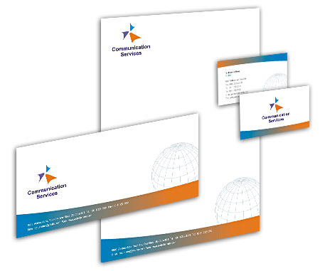 Complete Corporate Identity  View with Layout For Global Communication Services