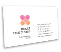 Business Card Templates Heart Care Centre