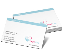 Business Card Templates heart care hospital
