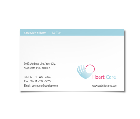 Complete Business Card  View with Layout For Heart Care Hospital