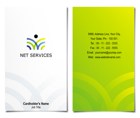 Complete Business Card  View with Layout For Net Services
