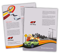 Brochure Templates vintage car race