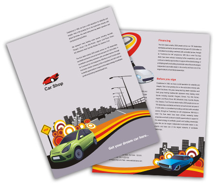 Complete Brochure  View with Layout For Vintage Car Race