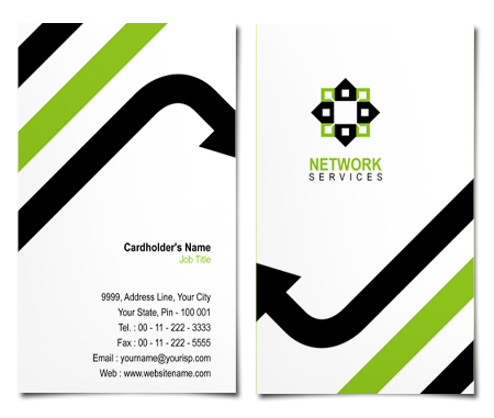 Complete Business Card  View with Layout For Network  Services