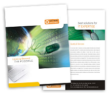 Brochure Templates Computers website developing software