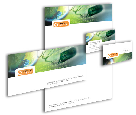 Complete Corporate Identity  View with Layout For website developing software