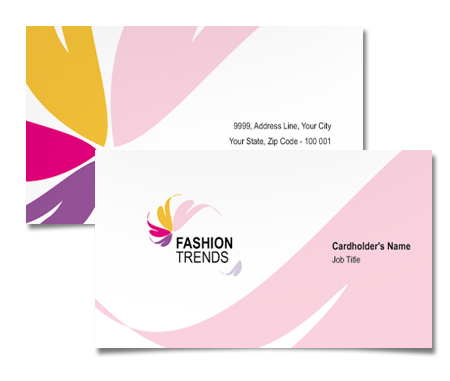 Complete Business Card  View with Layout For Fashion Trend