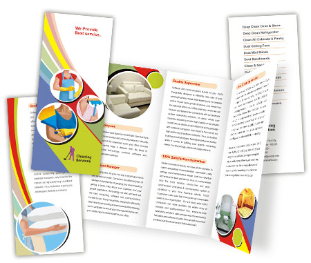 Complete Brochure  View with Layout For Cleaning Services