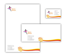 Corporate Identity Templates Educational Dance School