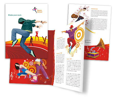 Complete Brochure  View with Layout For Dance Schools