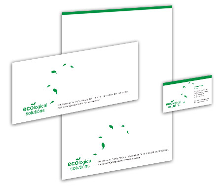 Complete Corporate Identity  View with Layout For Green Energy