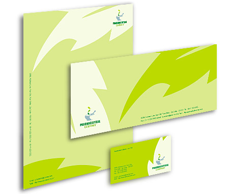 Complete Corporate Identity  View with Layout For Herbal Medicine