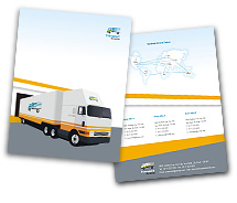 Automobiles Transportation Services brochure-templates
