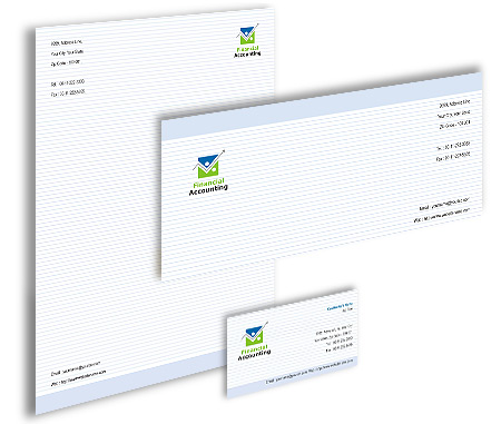 Complete Corporate Identity  View with Layout For Business Finance Solution