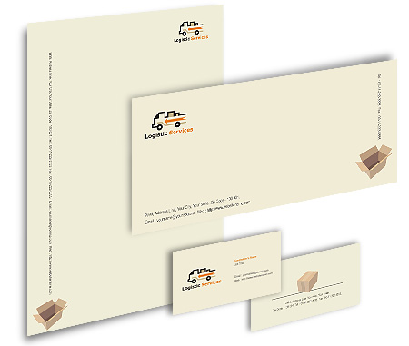 Complete Corporate Identity  View with Layout For Transport Logistics