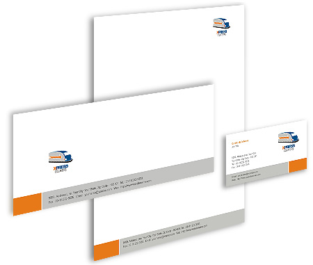 Complete Corporate Identity  View with Layout For Couriers