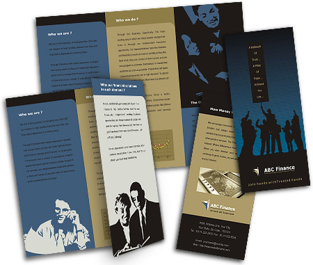 Complete Brochure  View with Layout For Financial Advisor