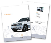 BrochureTemplates Automobiles Automobile Dealers One Fold