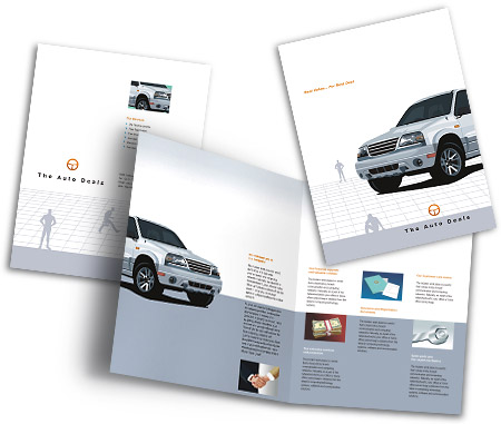 Complete Brochure  View with Layout For Automobile Dealers