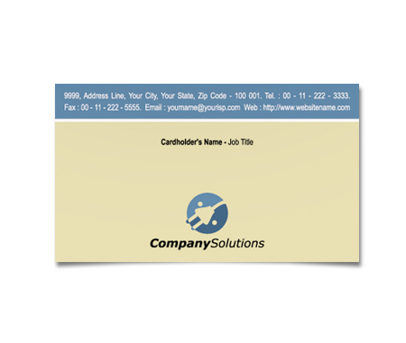 Complete Business Card  View with Layout For Electronic Suppliers