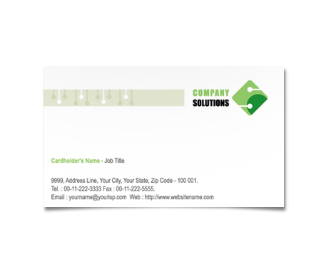 Complete Business Card  View with Layout For Electrical Business