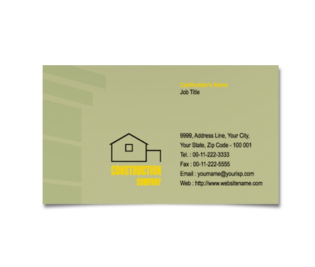 Complete Business Card  View with Layout For Architecture And Construction