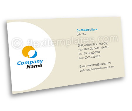 Complete Business Card  View with Layout For Wireless Data Communication