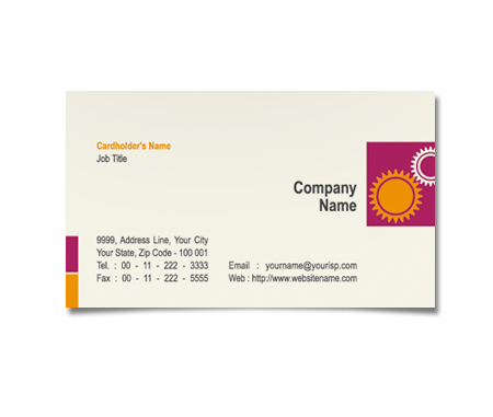 Complete Business Card  View with Layout For Industrial Development