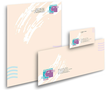 Complete Corporate Identity  View with Layout For Fashion Club