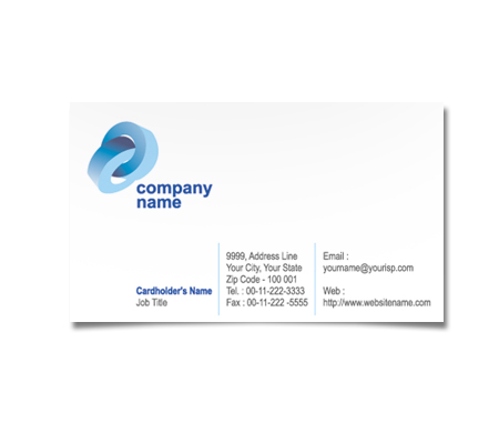 Complete Business Card  View with Layout For Internet House