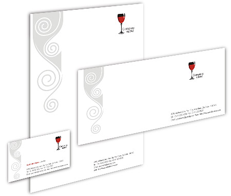 Complete Corporate Identity  View with Layout For Pub Bar