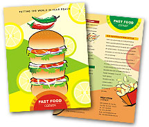 Brochure Templates burger shop