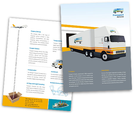 Complete Brochure  View with Layout For Transportation Services