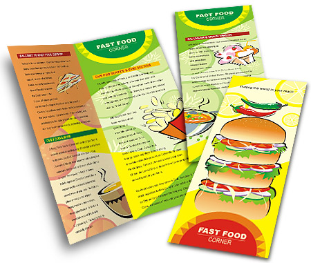 Complete Brochure  View with Layout For Burger Shop