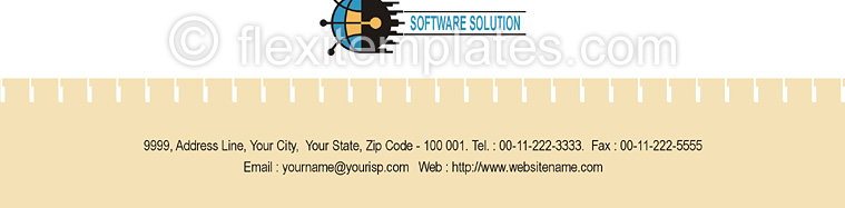 Actual Corporate Identity  Design For Business Software Solution