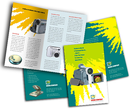 Complete Brochure  View with Layout For Digital Camera Accessories